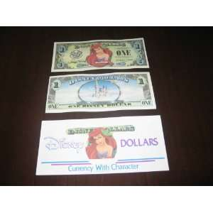 Disneyland 50th Anniversary Disney Dollar RARE! ARIEL: Everything Else