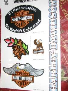 HARLEY DAVIDSON LOT OF RARE WINDOW CLINGS DECALS NEW
