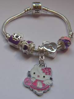 HELLO KITTY/MINNIE MOUSE CHILDRENS/BABIES CHARM BRACELET PINK/BLUE