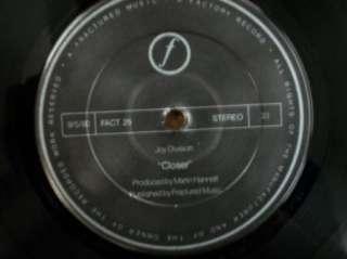 ROCK LP JOY DIVISION Closer FACT 25 UK First Press