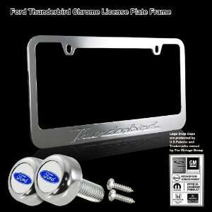 Ford Thunderbird Stamped High Quality Chrome Plating Cast Zinc License
