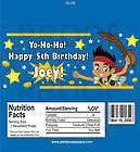 Customized Jake Neverland Pirate Candy Wrapper Wrap Kit items in Party