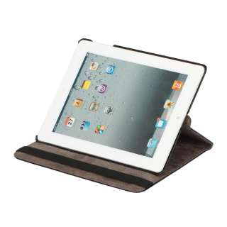 Smart Cover Leather Case Rotating Stand For iPad 2 BL