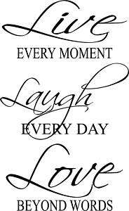 Live Laugh Love Vinyl Wall Art Quote Letters Decal LOOK