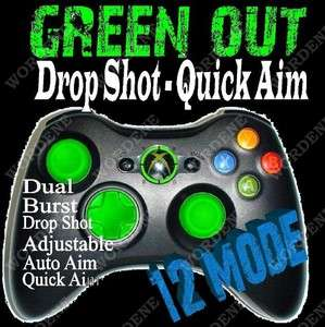 12 Mode RAPID FIRE Modded Xbox 360 Controller Drop Shot OPS Green LEDs