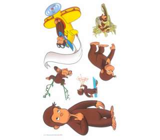 24 Curious George Room Wall Stickers Decals Stick Ups