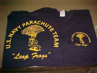 NAVY SEAL SWCC   PARACHUTE TEAM LEAP FROGS SHIRT SZ.XXL