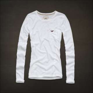 NEW 2012 HOLLISTER BY ABERCROMBIE WOMENS LONG SLEEVE KNIT SHIRT WHITE