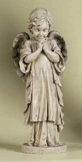 26 YOUNG PRAYING ANGEL CHERUB Outdoor Garden Statue 089945198430