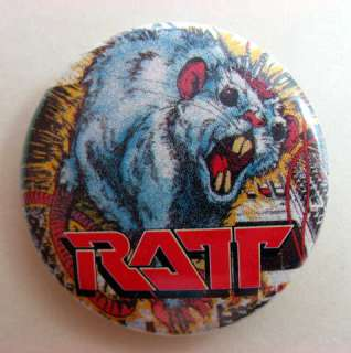 RATT Pinback Buttons Pins Badges 4 Different near MINT