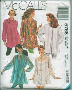 OOP McCalls Sewing Pattern Blouse Tops Shirts Misses Plus Size Full