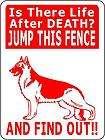 GERMAN SHEPHERD ALUMINUM GUARD DOG SIGN Decal C2276gs
