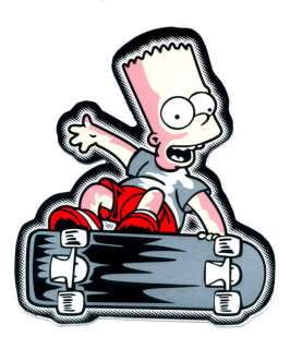 Bart Simpson Skateboarding Ski Surf ATV Car Sticker N16