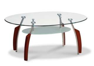 Contemporary Glass top Round Occasional / Coffee Table