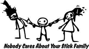 Stick family / Sticker / Decal / joke / Parody / funny