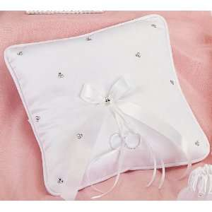 Crystal Clusters Italian Satin Ring Pillow