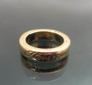 GP I Love You Engraved Ring Clear Swarovski Crystals 5size NEW
