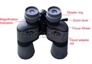 High Power Sport Binoculars Telescopes Super 10 30X50 Zoom Black