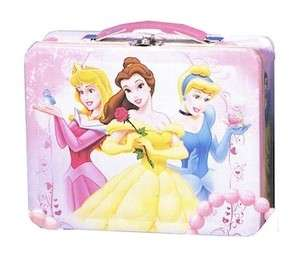 Disney Princess Metal Tin Lunch Box Three Princesses Kids  Cute