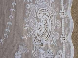 Stunning Cotton Victorian design c1910 white LACE CURTAIN PANEL Iona 2