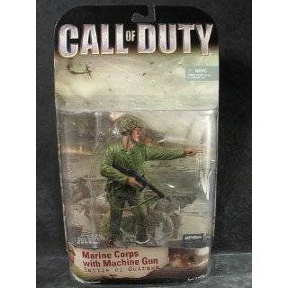 Call of Duty WWII Marine Corps with Machine Gun Figure