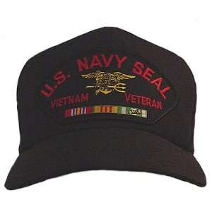 NEW U.S. Navy Seals Vietnam Veteran Cap w/ Ribbons