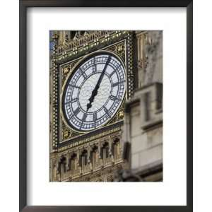 Close up of the Clock Face of Big Ben, Westminster, London